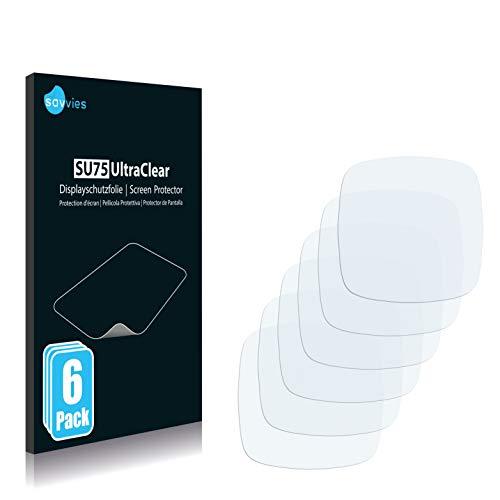 savvies 6-Pezzi Pellicola Protettiva Compatibile con Fitbit Sense Protezione Schermo Trasparente