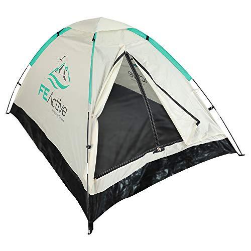 FE Active - Tenda da Campeggio 1-2 Persone con Zanzariera, Tenda Pieghevole Facile da Montare, Trasporto Facile per Zaino in Spalla per Outdoor, Viaggi, Escursionismo | Progettato in California, USA