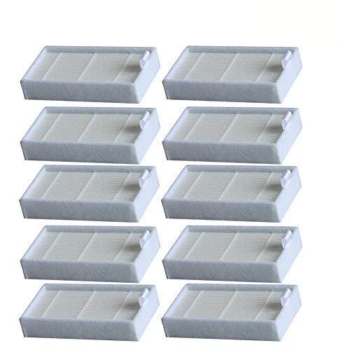 WuYan Accessori per consumabili Filtro HEPA per aspirapolvere, filtri di Ricambio a Vita per aspirapolvere Robot ILife V3, V3S, V3S PRO, V5, V5S, V5S PRO, 10PCS