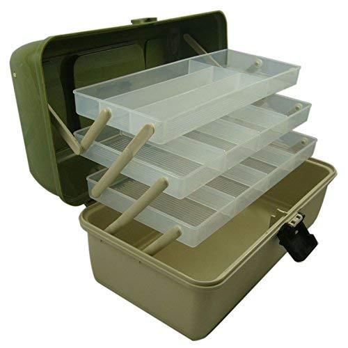 Lunar Box, scatola da pesca a sbalzo, 3 vassoi con scomparti regolabili