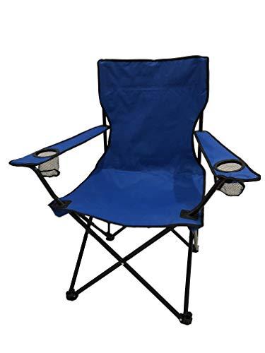 HOMECALL, sedia da campeggio con portabevande e schienale alto