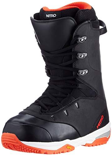 Nitro Snowboards PRO STND '20 All Mountain Freeride Freestyle - Scarponi da snowboard, colore: nero/rosso (Fox), 30,5 cm