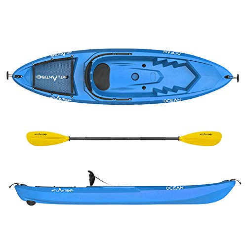 ATLANTIS Kayak - Canoa Ocean Blu - Pagaia + schienalino + ruotino