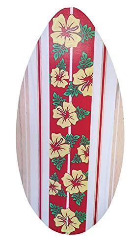 AQUA Tavola da Bodyboard in Legno per Adulti, Ragazzi, Bambini, tavola Surf Body-Board in Legno con Fantasia Fiori Lunghezza 104cm, tavola da Skimboard Dimensioni 104x50cm Circa Leggera e Resistente