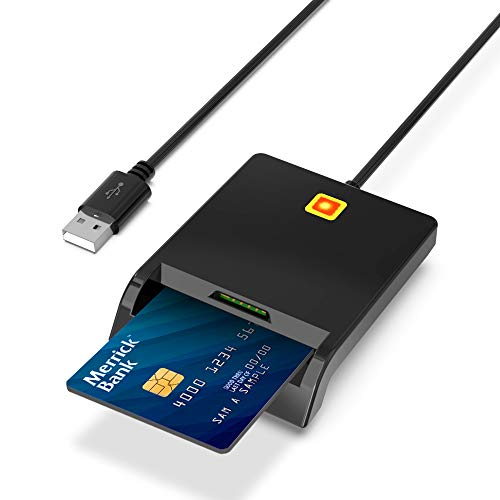 Rocketek Lettore Carta d'Identità Elettronica, Carte Contatta Il Lettore di SmartCard USB, Accesso Comune ID Lettore elettronico, Lettore di Schede SIM, Compatibile con Windows 10, Mac OS