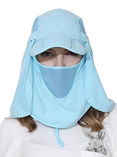 WANYING Unisex Cappello Safari Cappello da Sole con Protezione del Collo Anti UV Berretto di Baseball per Accamparsi All'aperto - Turchese