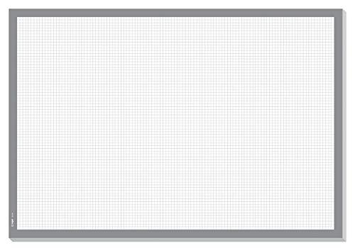 SIGEL HO260 Sottomano da scrivania, carta a quadretti, 59.5 x 41 cm, grigio, 30 fogli
