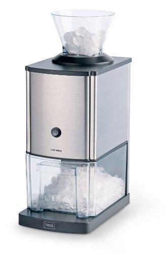 Trebs Tritaghiaccio in acciaio inox ideale per bibite, cocktail o preparazione di dessert freddi (1 kg di ghiaccio tritato al minuto, capacità 3 litri, 80 watt)