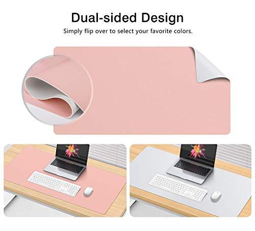 Grande sottomano tappetino per mouse pad antiscivolo tappetino mouse da scrivania in pelle PU impermeabile sottomano Protector Thin dual-sided protezione di per ufficio e casa