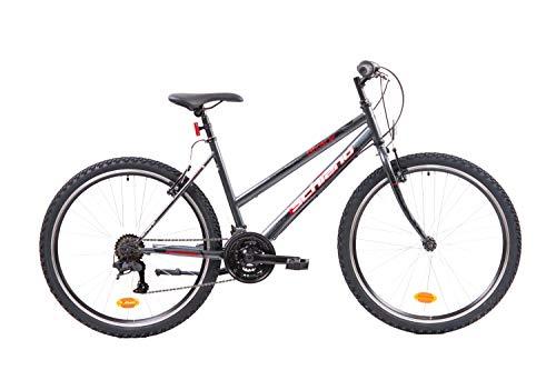 F.Lli Schiano Ghost Bici Mtb, Donna, Antracite - Rosso, 26''