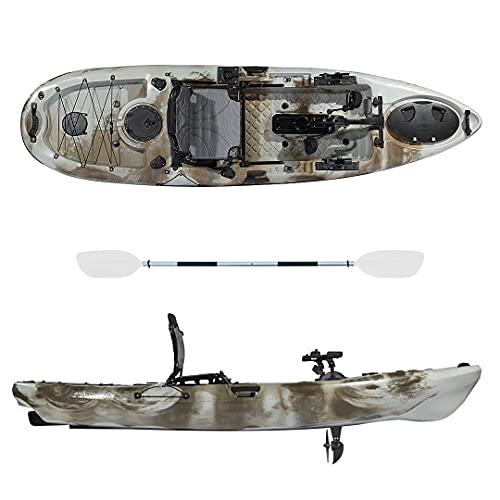 Kayak-canoa ANACONDA - pedali ad elica - cm 316 - seggiolino - 2 portacanna - pagaia