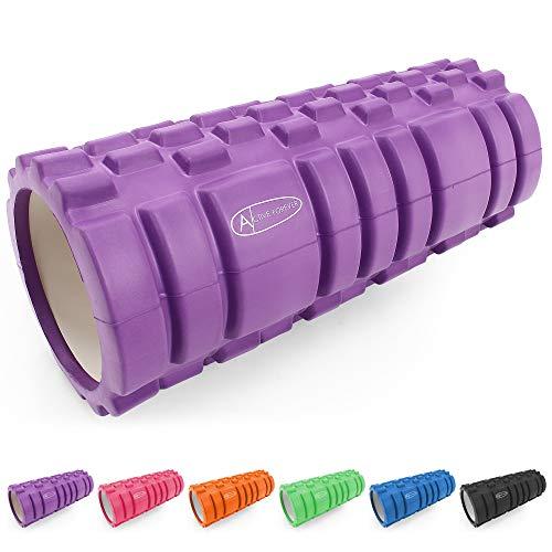 ActiveForever Foam Roller Rullo di Schiuma Eva,Trigger Point Rullo Massaggiante,Rullo in Schiuma per Il Massaggio Profondo dei Tessuti,Sei Colori per La Selezione (Viola)