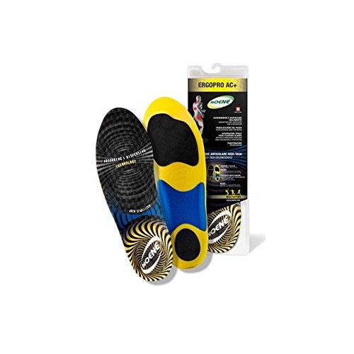 Noene AC + Ergopro, plantari ergonomici sportivi, assorbimento delle vibrazioni, unisex , Multicolore (nero), 48