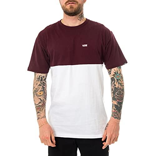 Vans Colorblock Tee T-Shirt, White-Port Royale, M Uomo