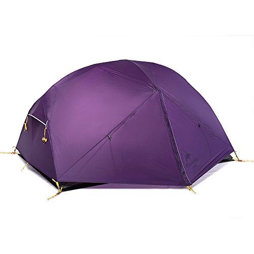 Naturehike Mongar Tenda da Campeggio 3 Stagioni 2 posti Tenda Ultraleggera Silicone 20D Escursioni e Campeggio (Porpora)