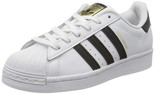 adidas Superstar J, Scarpe da Ginnastica, Ftwr White/Core Black/Ftwr White, 38 2/3 EU