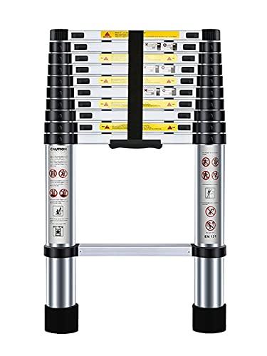 Nestling 3.2M Scala Telescopica Pieghevole, Multiuso Allungabile Scaletta Alluminio, Carico Massimo 150 kg,Norme EN131