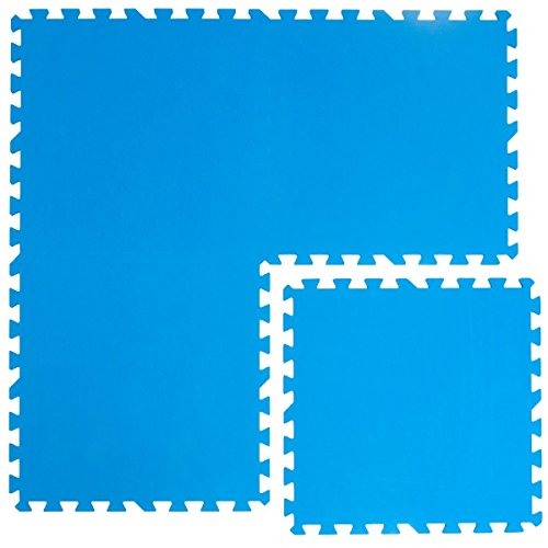 Tappeto Puzzle Eva Blu Tappetino Piscina Gioco Casa set 50x50 0.4 24pcs 6 mq STI