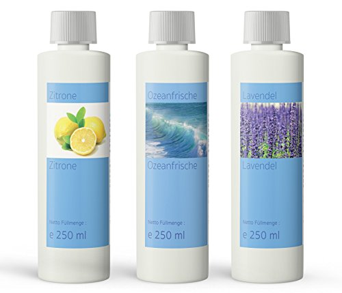 Set da 3 additivi di profumo per tutti i tipi di pulizia a vapore, 3x 250ml, prodotto in Germania
