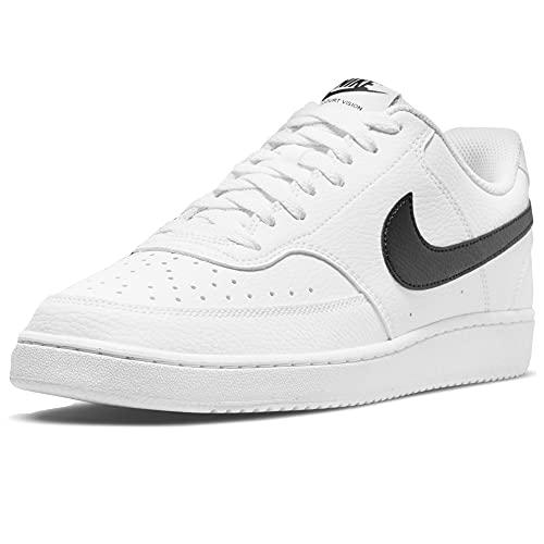 Nike Court Vision Low Better, Scarpe da Basket Uomo, Bianco Nero, 42 EU