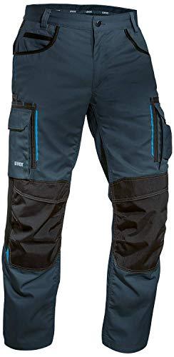 Uvex Tune-up 8909 Pantaloni da Lavoro Multitasche Uomo   Tasche Cordura per Inserire Le Ginocchiere   Pantaloni Cargo - Molte Tasche Laterali   Grigio - Nero - Blu - Verde - Bianco