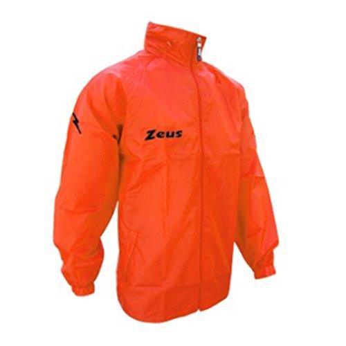 K-way Rain Corsa Sport Uomo Pioggia Running jogging Allenamento Relax Calcio Calcetto Impermeabile Scuola Sport (Arancio Fluo, L)