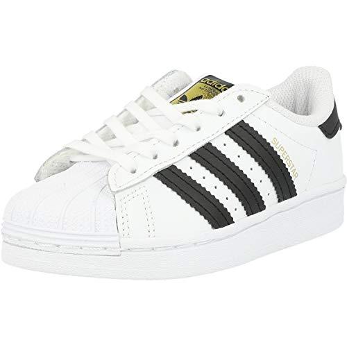 adidas Superstar C, Scarpe da Ginnastica, Ftwr White/Core Black/Ftwr White, 34 EU