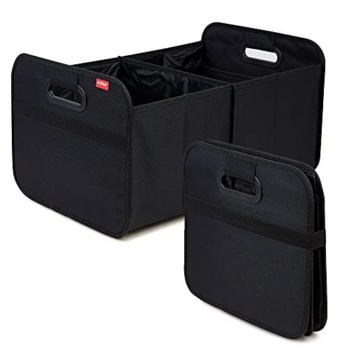 achilles Scatola pieghevole per auto, scatola pieghevole per baule baule baule, nera, 50 cm x 32 cm x 27 cm