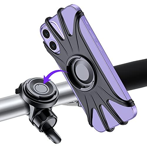 VUP Porta Cellulare Bici, Supporto Telefono per MTB, Staccabile & Universale ruotabile a 360 °, per 4.0' a 6.7' Smartphone, Compatibile con iPhone 12 11 PRO X XS Max XR 7 8 Plus, Samsung S9 S10 S20