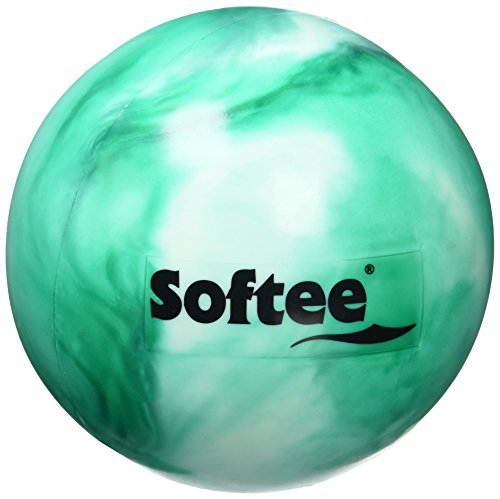 Softee - Palla ritmica, stile madreperla, per bambini, colore: bianco / verde