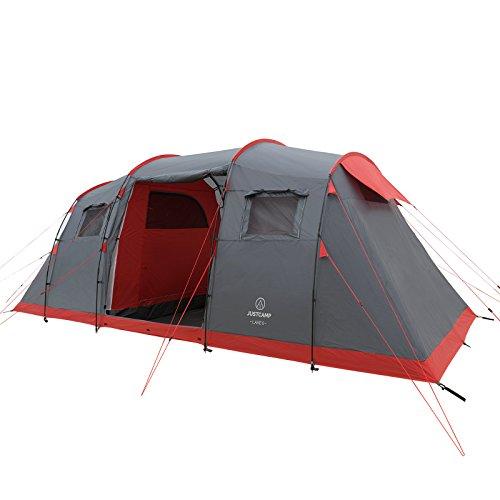 Justcamp Lake 6 Tenda da Campeggio 6 posti (560 x 230 x 200 cm)