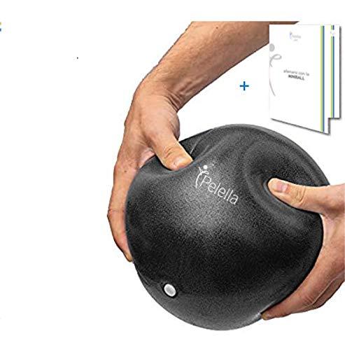 PELELLA 25cm Mini Swiss Soft Ball Palla Pilates Yoga Fisioterapia Video Corso e-Book Core Cross Training Palestra ed Esercizio Fisico Gravidanza FitnessOver