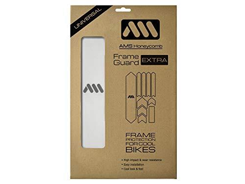 All Mountain Style, High Impact Frame Guard XL-Protezione del telaio-Proteggi la tua bici dai graffi Unisex – Adulto, Chiaro/Argento