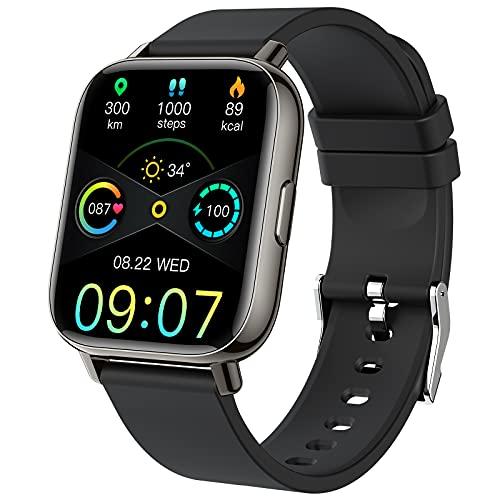 Smartwatch, Orologio Fitness Uomo Donna 1,69'' Smart Watch Sonno Cardiofrequenzimetro Contapassi Cronometro Sportivo Activity Fitness Tracker Impermeabil IP68, 24 Modalità Sportive, Notifiche Messaggi