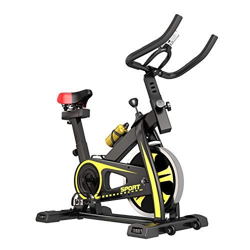 Cyclette da Casa, con Comodo Sedile Super Morbido E Barra di Estensione del Sedile Aggiornata. Volano da 10 kg, Adatto per Principianti con Meno di 183 Cm / 150 kg, giallo