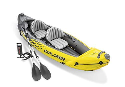 INTEX Canoë Explorer K2 Kayak pour Deux Personnes avec Rames + Pompe
