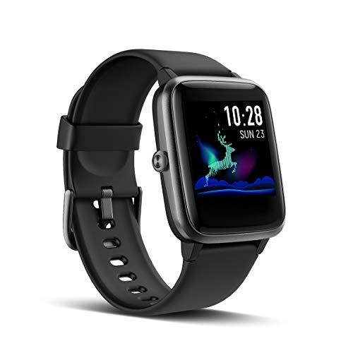 LATEC Smartwatch Smart Watch Notifiche Messaggi per iPhone Android Telefono Orologio Fitness Tracker Cardiofrequenzimetro da Polso Contapassi Calorie Cronometro GPS Percorso Impermeabile