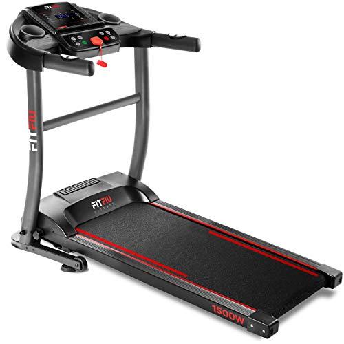 FITFIU Fitness MC-200 - Tapis roulant pieghevole, velocità regolabile fino a 14km/h, potenza 1500W, superficie di corsa 40x110cm, cardiofrequenzimetro, 12 programmi di allenamento, peso massimo 90kg