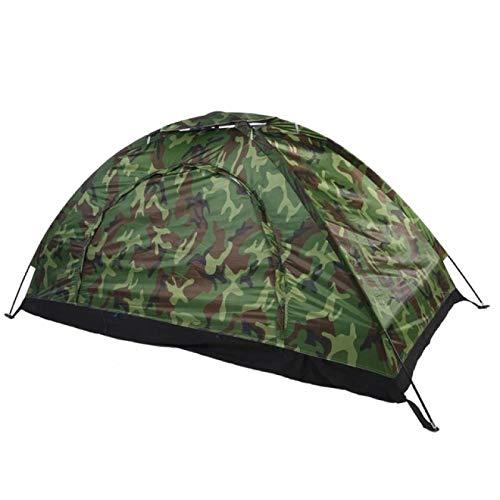 YFFSBBGSDK Tenda da Campeggio 1 4 Persone Tenda da Campeggio Esterna Portatile Tenda da Spiaggia Mimetica Tenda da Alpinismo Impermeabile Luce
