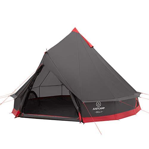 Justcamp Bell 6 Tipi tenda per famiglia, campeggio, a 6 persone, tenda piramide