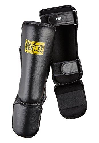 BENLEE Rocky Marciano PVC Instep Shin Paratibia con Piede Guardian Nero L/XL