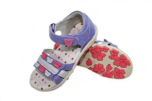Lupilu - Sandali da bambina, Viola (Purple Silver), 24 EU