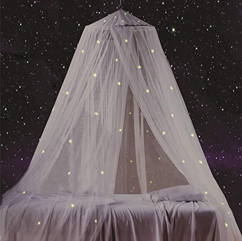 baldacchino per letto con stelle fluorescenti, fantastica idea regalo per neonati, bambini, ragazzi, ragazze. Baldacchino motivo cielo stellato, per culle, lettini