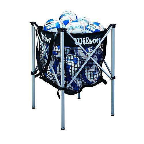 Wilson, Beach volley, Carrello porta-palloni, Rete porta-palloni inclusa, Alluminio, Per un massimo di 24 palle, WTH180400