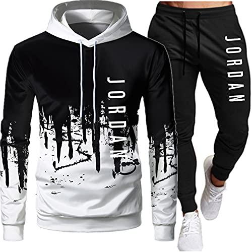 PKIMKM Jordan 23# Tuta da Uomo Set Felpa con Cappuccio Top Abbigliamento Sportivo Pantaloni da Jogging Tuta da Jogging da Palestra Adatto A Uomini E Donne per Luso Quotidiano