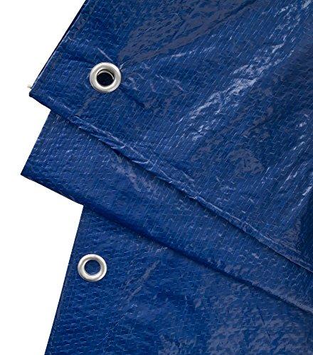 GardenMate Telone Protettivo 3 m x 3 m UNIVERSAL Consistenza Tessuto 90 g/m² – Colore Blu/Verde – Copertura – Telone Protettivo per Barche