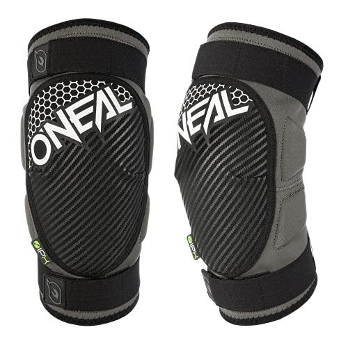 O'Neal   Protezione ginocchio e stinco   MTB BMX Mountainbike DH FR   IPX- Protettore, Certificato secondo EN 1621-1, cinghie Velcro   Protezione ginocchio DROP   Adulto   Grigio Bianco   Taglia M