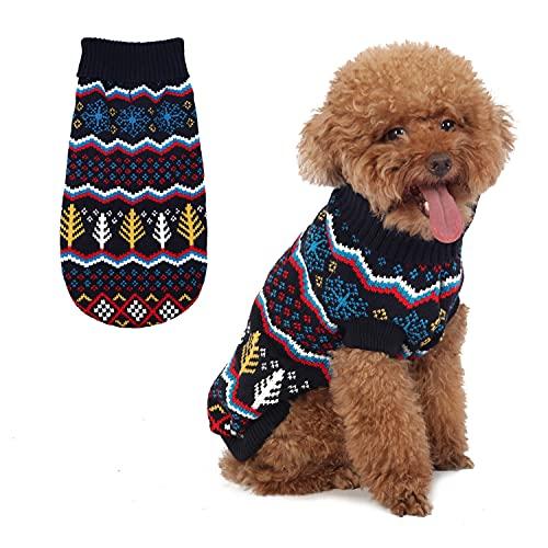 Maglione per cani classico fiocco di neve maglione maglione dolcevita caldo maglieria Pet abbigliamento invernale per cani di piccola taglia e gatti