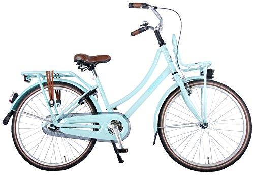 Bicicletta Bambina Ragazza Volare Excellent 24 Pollici con Freno a V e Contropedale KT, Cavalletto, Portapacchi 95% assemblata