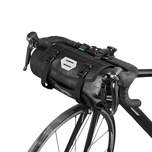 Borsa per Manubrio MTB Bici da Strada 3L-7L Regolabile con Chiusura a Rullo Impermeabile Borsa Anteriore per Bicicletta